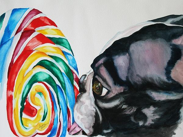 Lollipop Painting - Lolli Pup by Susan Herber