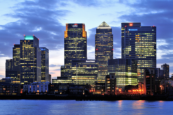 London Photograph - London Canary Wharf by Marek Stepan