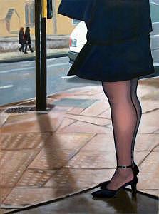 London Legs Painting by Albie Davis