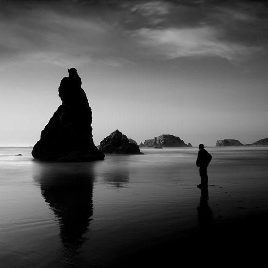 B&w Photograph - Lone Man No 12 by Cole Thompson