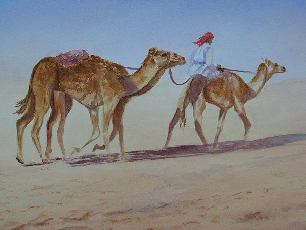 Uae Painting - Lonely Journey by Maruska Lebrun