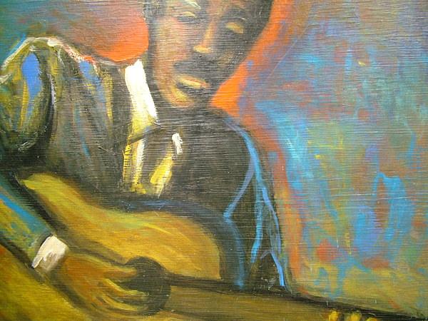 Painting Painting - Lonesome Blues by Jan Gilmore