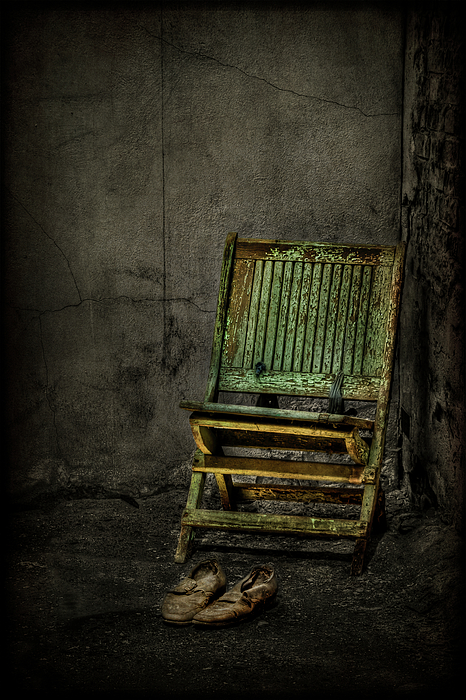Chair Photograph - Long Is The Time. Hard Is The Road. by Evelina Kremsdorf