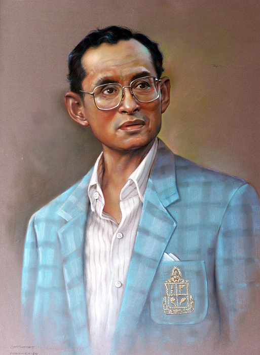 Pastel Portrait Painting - Long Live The King by Chonkhet Phanwichien