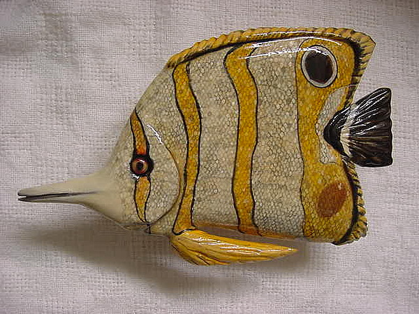 Fish Relief - Long Nose Butterfly Fish-sold by Lisa Ruggiero