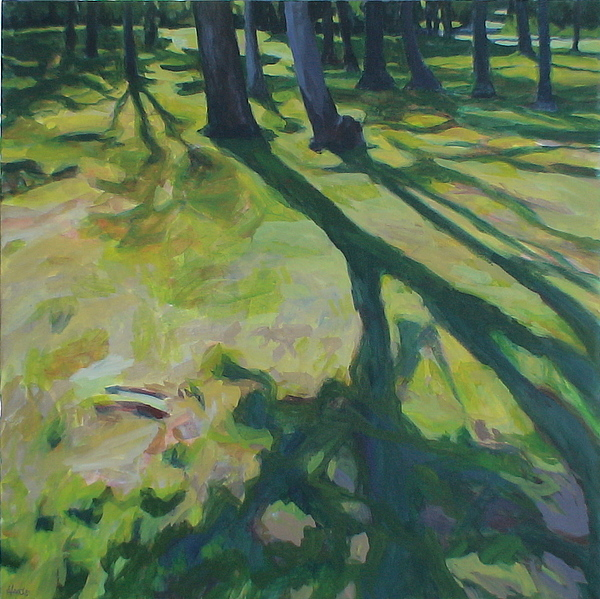 Landscape Painting - Long Shadows by Jackie Hoats Shields
