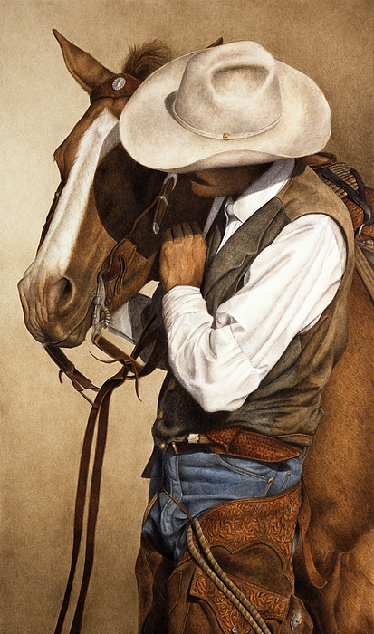 Western Painting - Long Time Partners by Pat Erickson