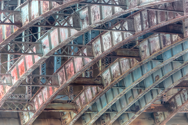 Arch Photograph - Longfellow Bridge Arches II by Clarence Holmes
