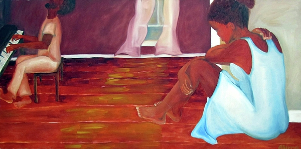 Piano Painting - Longing by Alima Newton