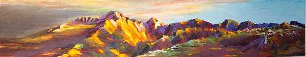 Rocky Mountain National Park Painting - Longs Last Light by David Knox