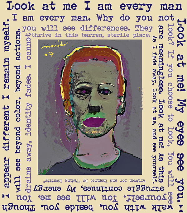 Look At Me Mixed Media by Noredin Morgan