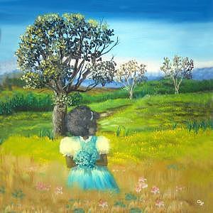 Look Back To Yesteryear Painting by Pamela Benjamin