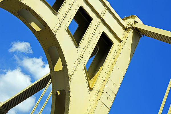 Bridge Photograph - Look Up Pittsburgh Pa by Kristen Vota