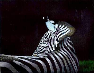 Wildlife Painting - Looking Back by Ron West