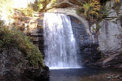 Waterfalls Photograph - Looking Glass Falls by Chris Jones