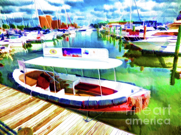 Loose Cannon Water Taxi Painting - Loose Cannon Water Taxi 1 by Lanjee Chee
