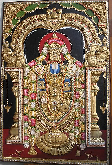 God's Mural Relief - Lord Venketswara by Prity Jain