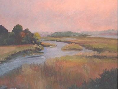 Cove Painting - Lords Cove Tidal Marsh by Joan Cole