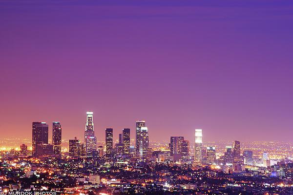 Horizontal Photograph - Los Angeles At Dusk by Dj Murdok Photos