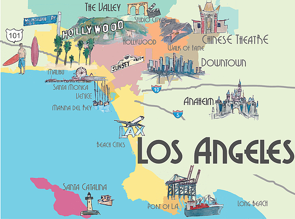 Www Los Angeles Map Image collections - Diagram Writing