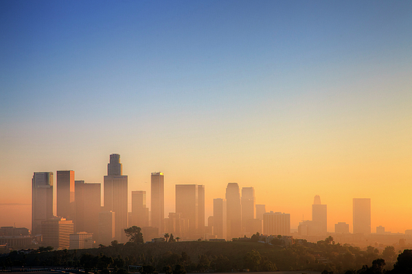 Horizontal Photograph - Los Angeles Sunset by Eric Lo