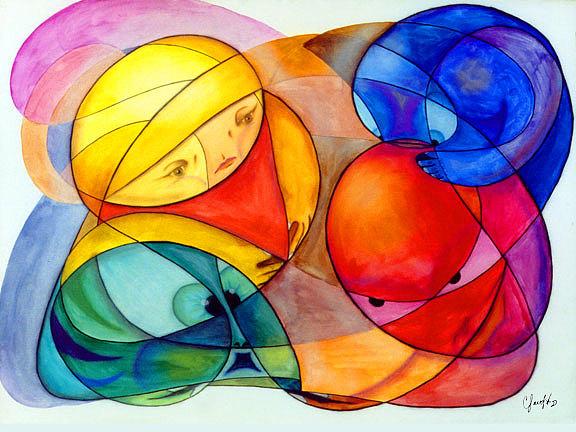 Los Elementos Painting by Claudio  Espinosa