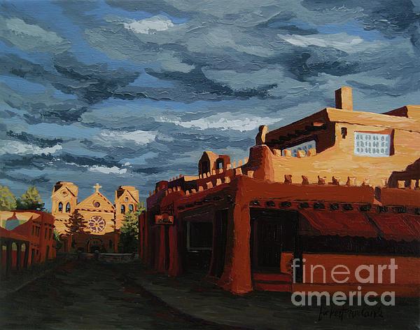 Lanterns Painting - Los Farolitos,the Lanterns, Santa Fe, Nm by Erin Fickert-Rowland