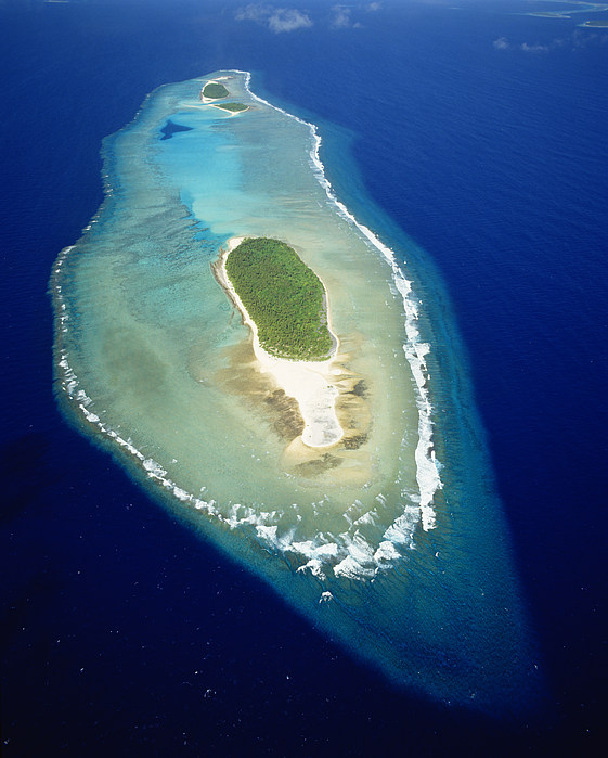 Aerial Photograph - Losiep Atoll by Mitch Warner - Printscapes