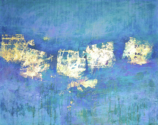 Blue Abstract Painting - Lost And Found by Filomena Booth