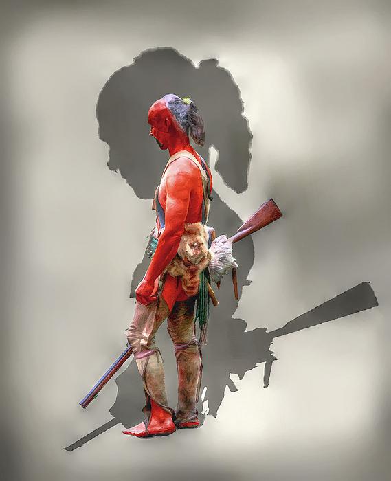 Warrior Digital Art - Lost Cause Seneca Warrior Ver 2 by Randy Steele