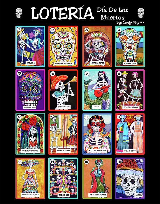 Loteria Dia De Los Muertos Painting By Candy Mayer