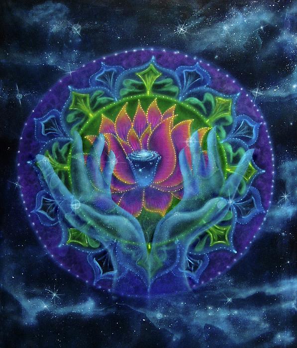 Sacred Painting - Lotus Of Light by Deborah Wright