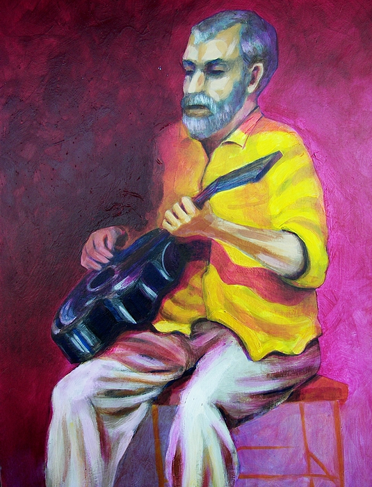 Portrait Painting - Lou Canoe by Charles Peck
