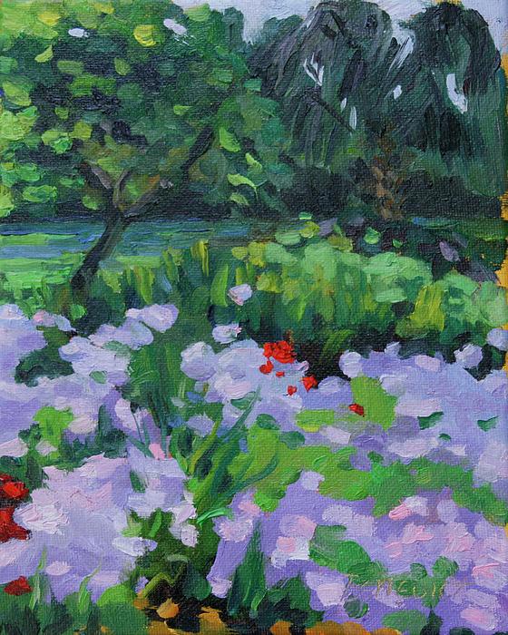 Bluffton Painting - Louisiana Wild Phlox by Barbara Jones