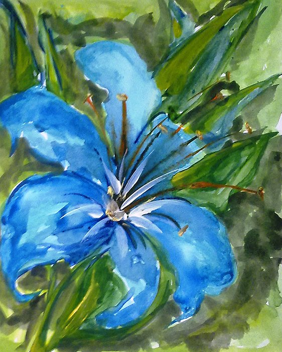 Floral Painting - Love Flowerts by Baljit Chadha