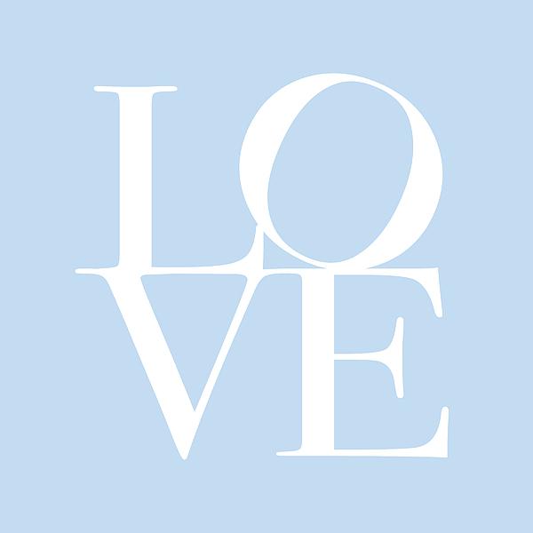 Love Digital Art - Love In Baby Blue by Michael Tompsett