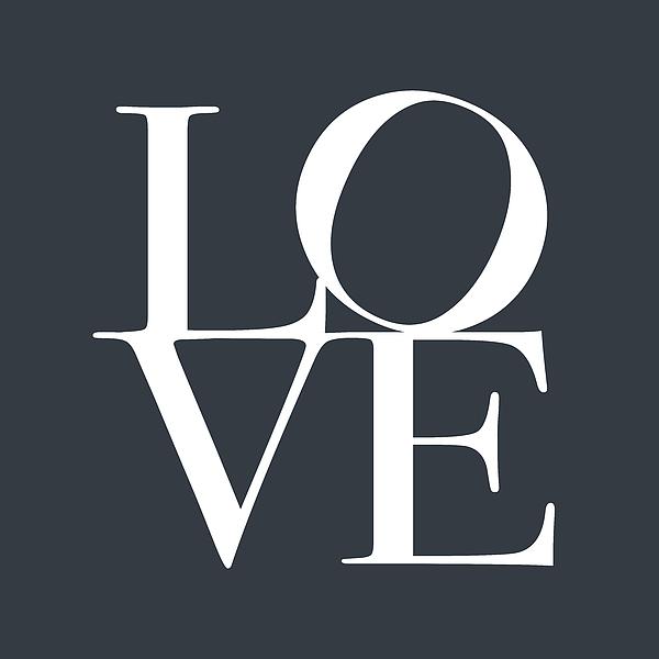 Love Digital Art - Love In Slate Grey by Michael Tompsett