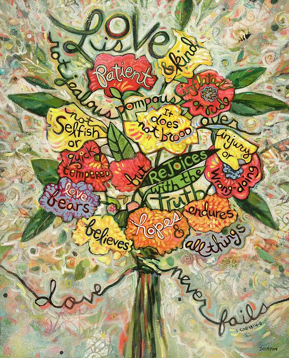 1 Corinthians 13 Painting - Love Is Patient by Jen Norton