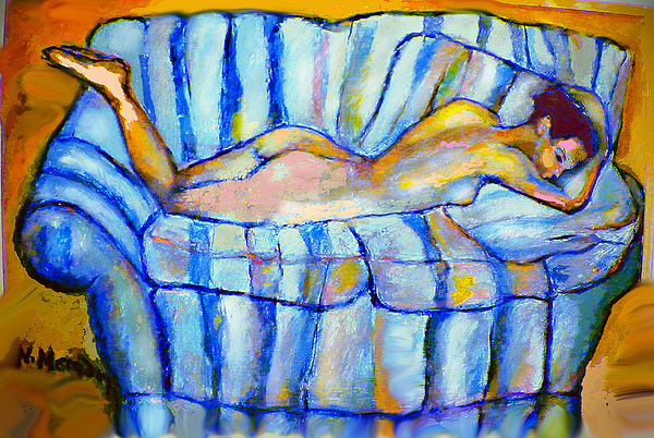 Nude Painting - Love Seat by Noredin Morgan