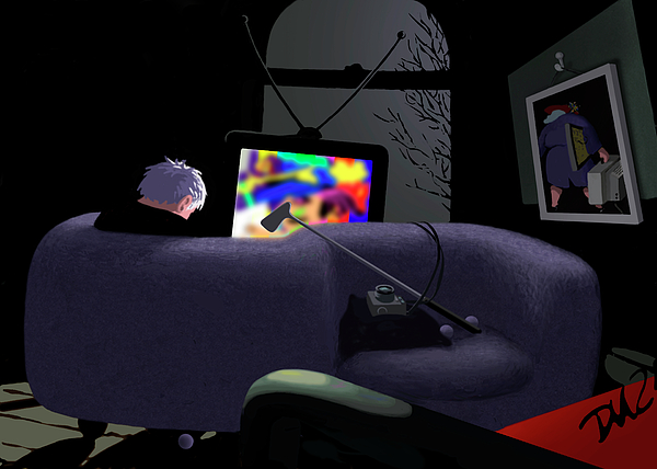 Humor Digital Art - Love Seat  by Tom Dickson