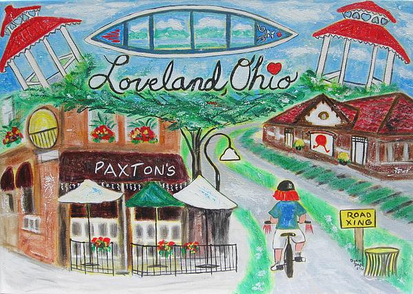 Bike Trail Painting - Loveland Ohio by Diane Pape