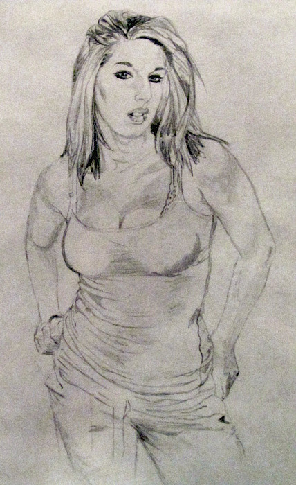 Lovely Lindsey Final Drawing by Claude Willis