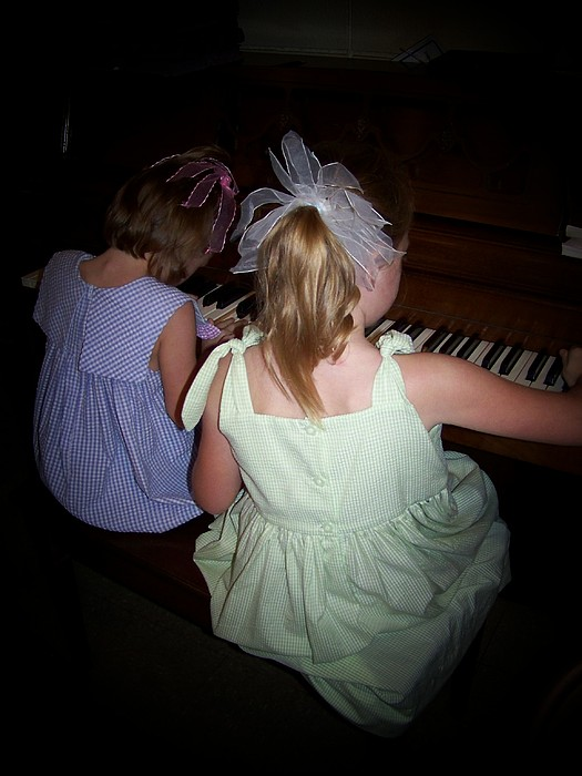 People Photograph - Lovely Sisters by Jessica Findley