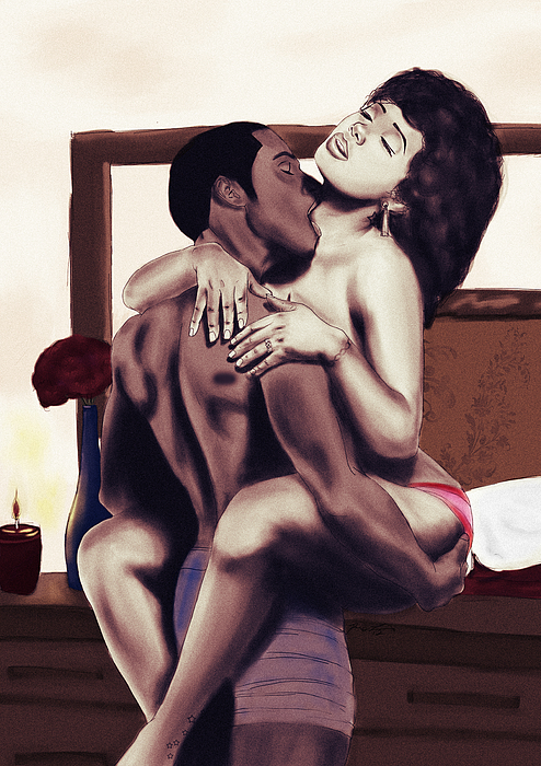 Lovers Painting - Lovers Sensual Love by Kenal Louis