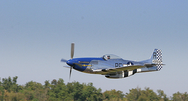 P-51 Photograph - Low Flyer by Donald Tusa