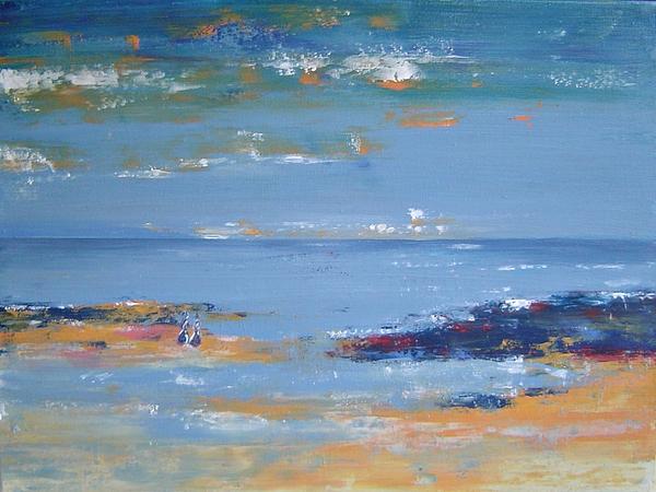 Seascape Painting - Low Tide by Bridgette  Allan
