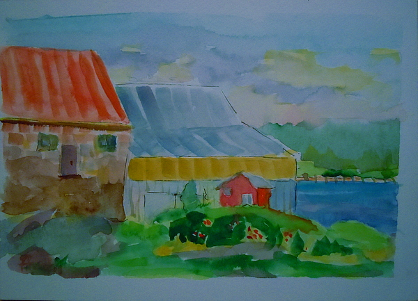 Bay Painting - Lubec Fishery by Francine Frank