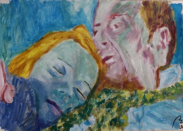 Lucian Freud Painting - Lucian And Kate Iv by Bachmors Artist
