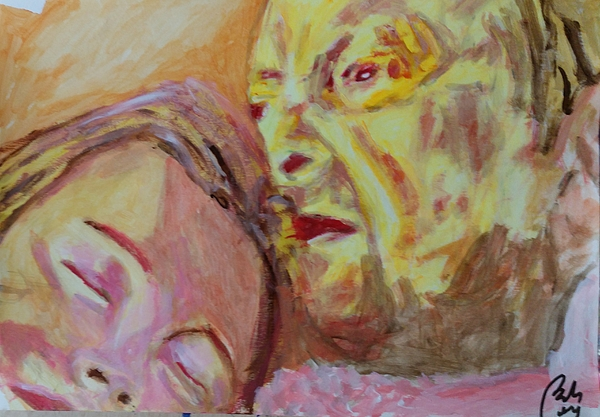 Lucian Freud Painting - Lucian And Kate V by Bachmors Artist
