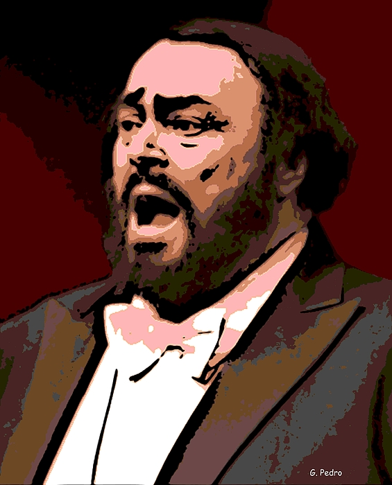 Luciano Pavarotti Photograph - Luciano by George Pedro